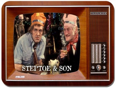 Steptoe and Son Television Mouse Mat. Vintage TV Mouse Pad. Classic British 1970's Comedy Mousepad